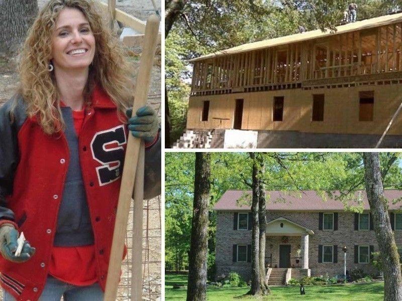 mujer construyó casa con DIY