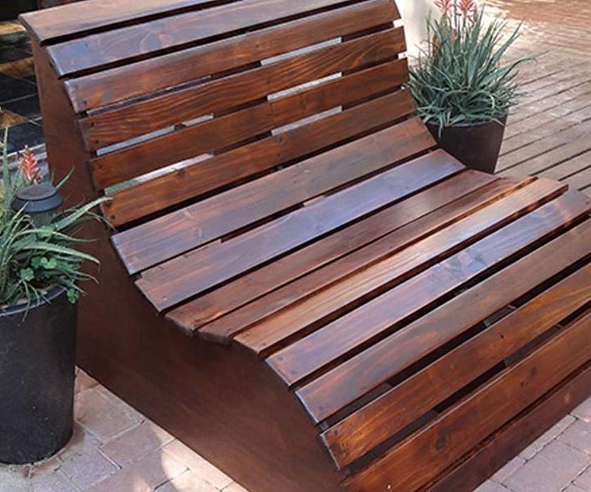 Cómo hacer un asiento de jardín ergonómico