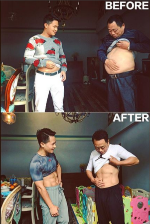 Los 4 miembros de esta familia china hicieron dieta juntos y el resultado es m..