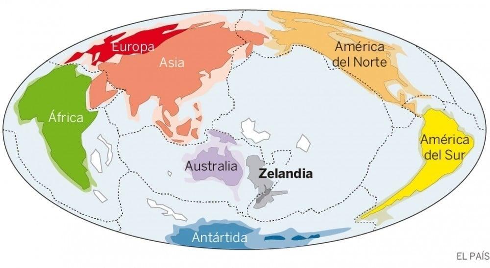 nuevo continente descubierto: Zelandia