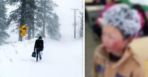 Este fue el final feliz de la foto viral del niño chino con el pelo congelado