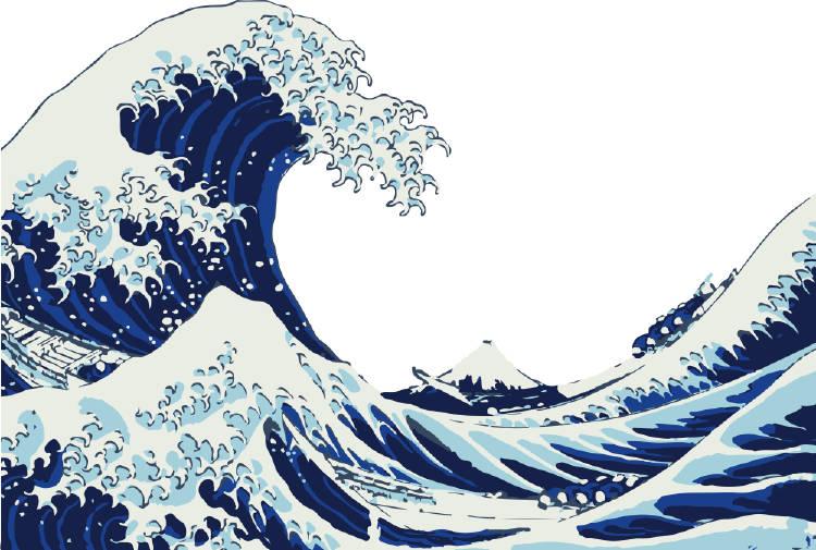 cuadro la gran ola