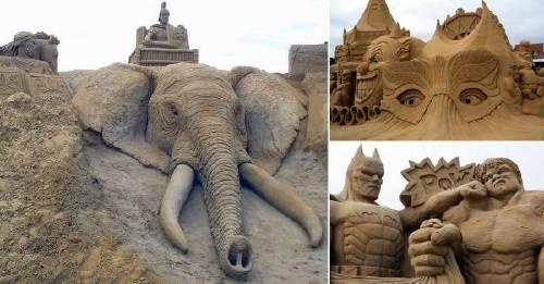 Las más espectaculares esculturas de arena