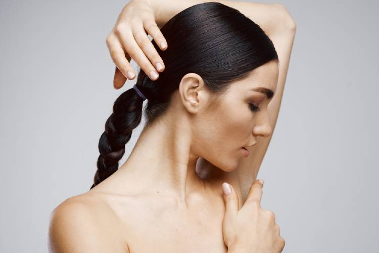 mujer axila drenaje linfatico