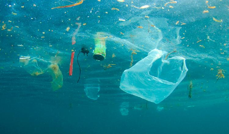 Océano contaminado