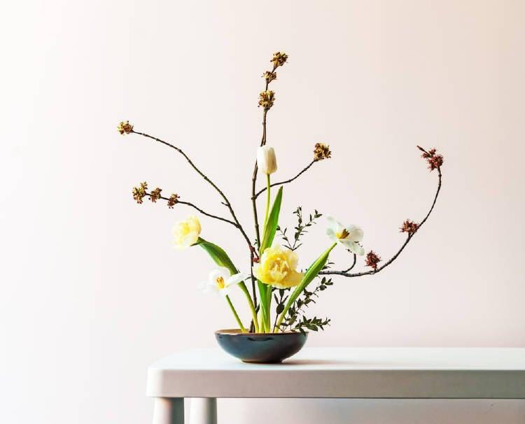 ikebana arte japones de arreglos florales