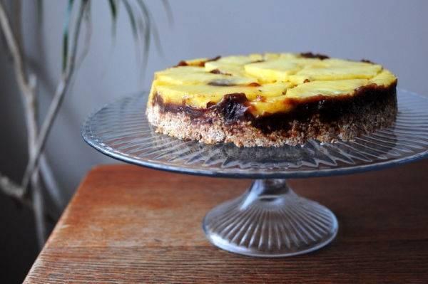 Torta invertida de piña