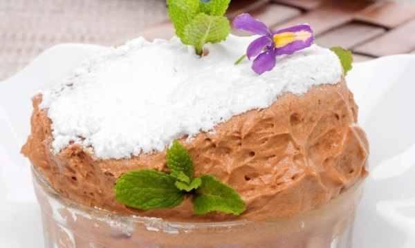 Soufflé helado de chocolate