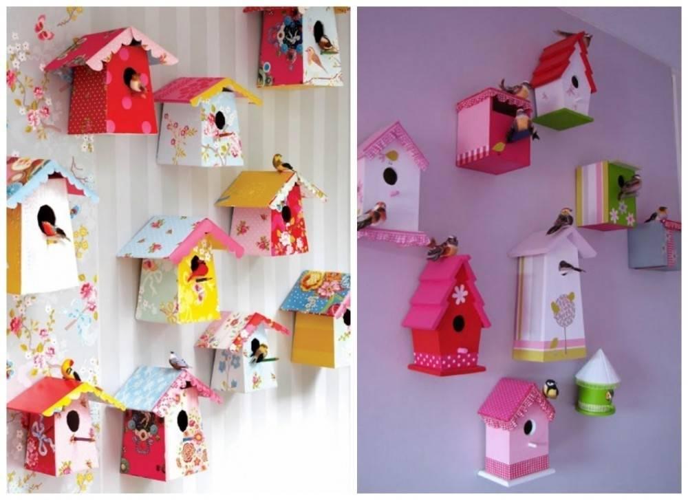 Originales y sencillas decoraciones para la pared hechas con papel
