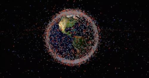 Un mapa que permite ver la basura en el espacio