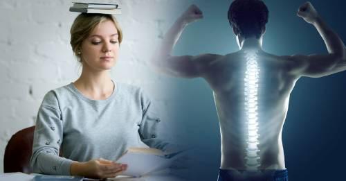 Esta es en realidad la postura correcta en la que debería estar la espalda