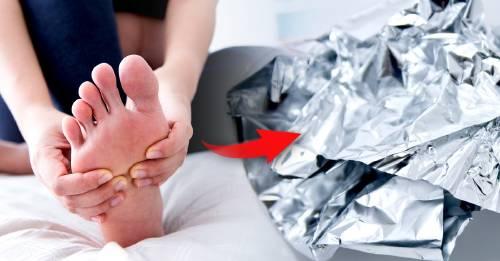 Envuelve por una hora tus pies en papel aluminio y sorpréndete con los resultados