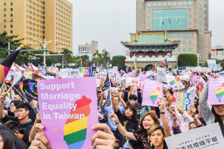 desfile por matrimonio homosexual en taiwan