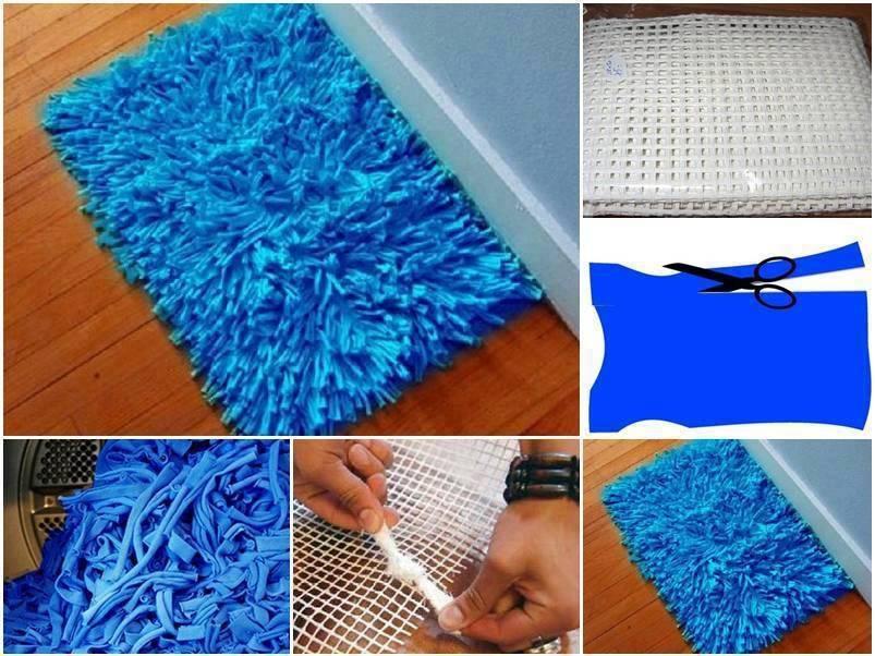 Alfombra con retazos de tela - Telas para alfombras ...
