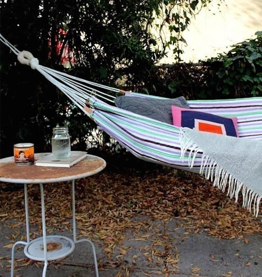 Cómo hacer una práctica hamaca  para tu jardín o para llevar de camping