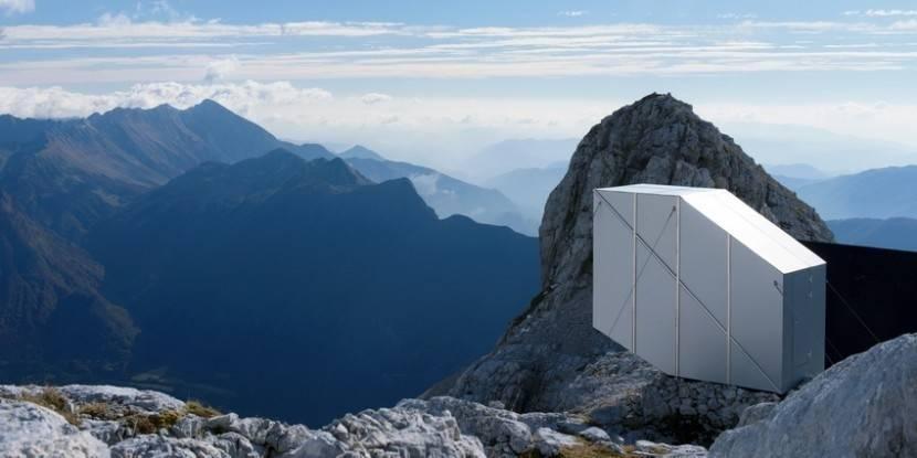 Un refugio para acampar en las montañas más altas del mundo