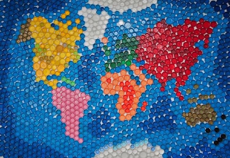 mapa mundi mundial plastico