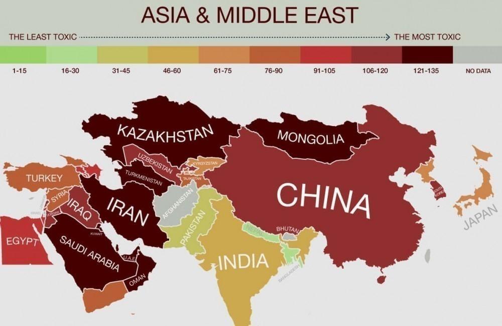 países más tóxicos del mundo