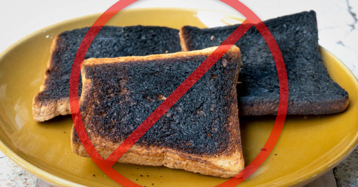 Esta es la razón por la que nunca deberías comer comida quemada