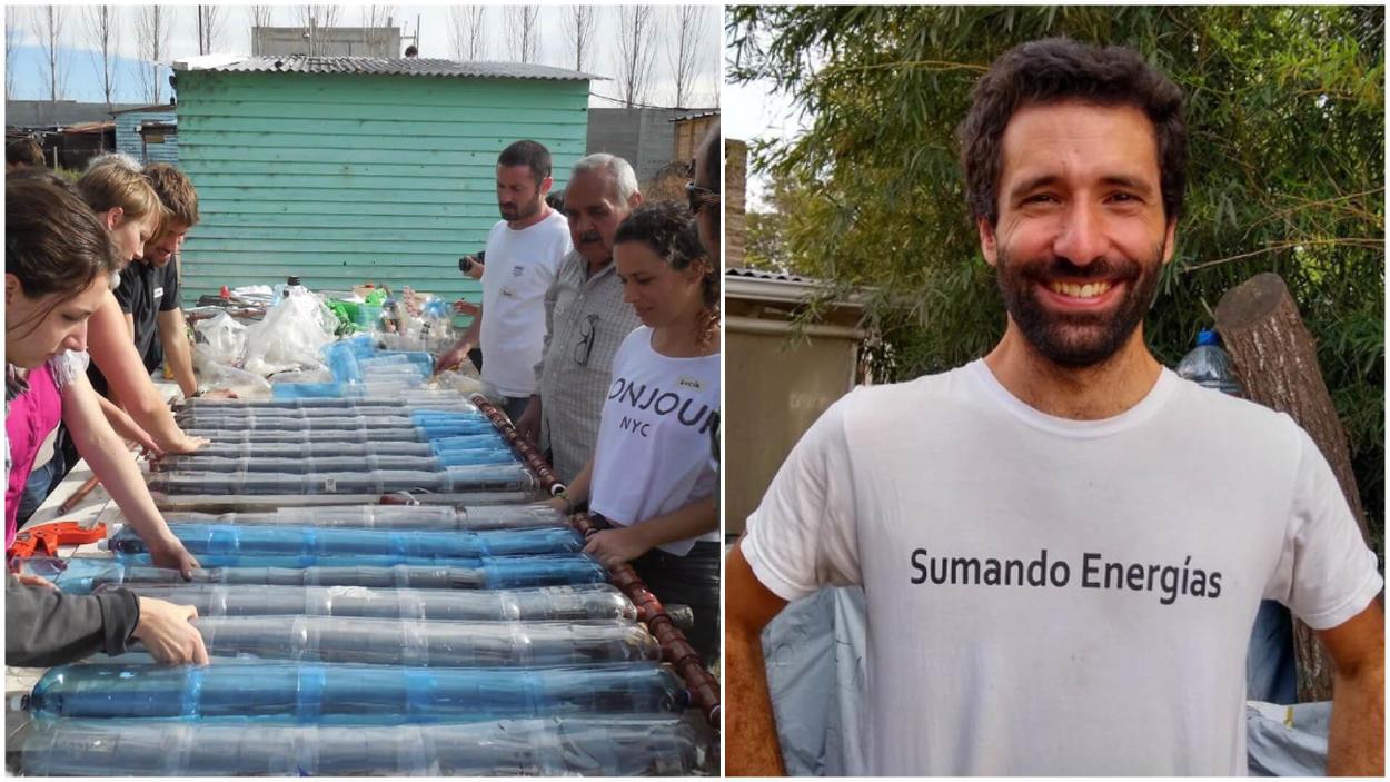 Construyen calefones solares para familias de barrios vulnerables