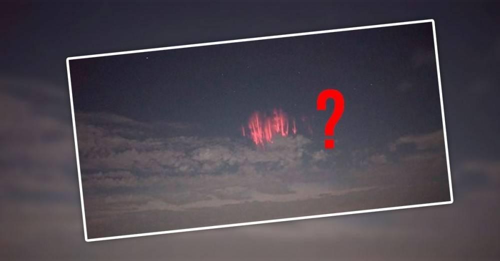 Qué es el espectro rojo, el extraño fenómeno que iluminó el cielo en Oklah..