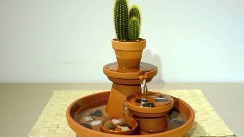 Cómo construir una fuente relajante con macetas de terracota