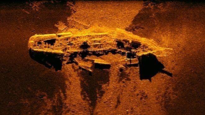 Encontraron buques mercantes que se hundieron en el siglo XIX