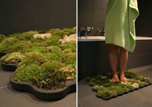 Tapetes de musgo: llevá la naturaleza a tu baño