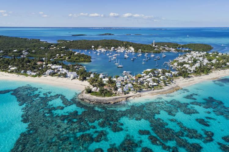 vista panorámica de una de las islas de las bahamas