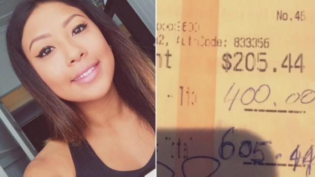 Una pareja de extraños dejó 400 dólares de propina a una mesera. Al día si..
