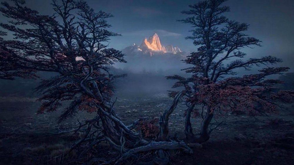 La fotografía fue tomada por Max Rive, es del Monte Fitz Roy, en la Patagonia, al sur de Argentina