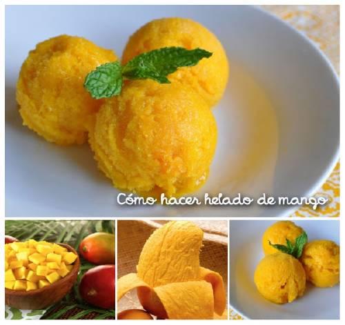 Cómo hacer helado de mango