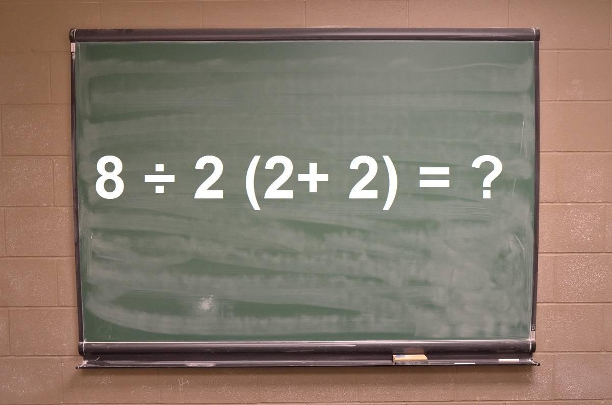 Este sencillo problema matemático se ha vuelto viral: divide a todos en Internet
