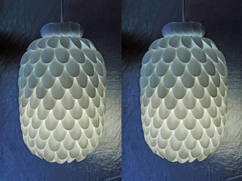 Nadie podrá adivinar con qué está hecha esta lámpara