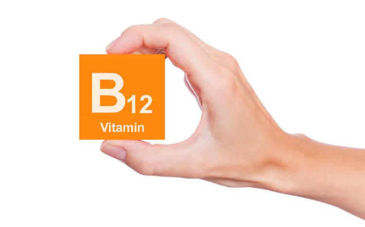 mano sostiene vitamina b12