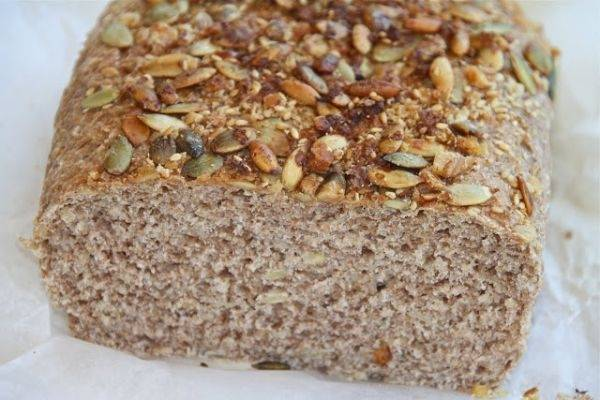 Pan integral energético con mix de semillas