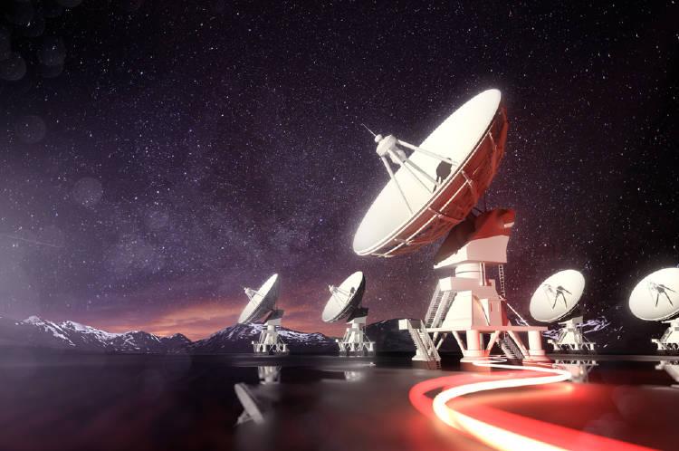señal radio espacio