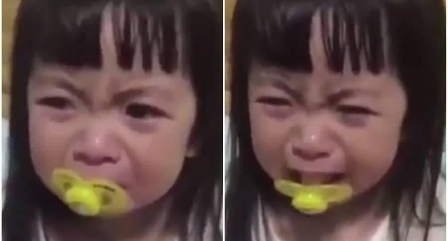 Video viral: esta niña conmueve al mundo con su llanto y nadie sabe si es ver..