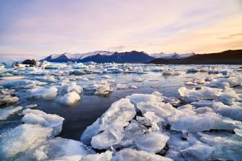 hielo derretido