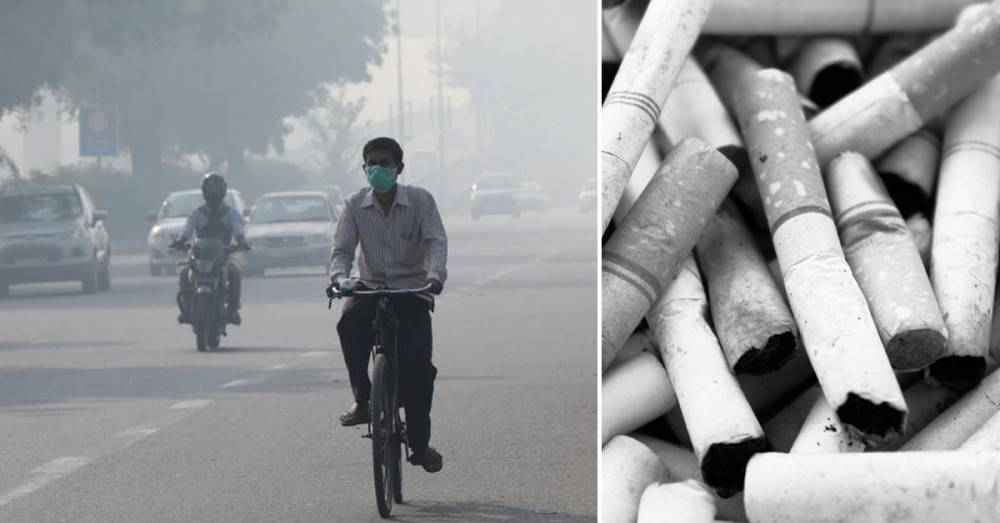 Respirar el aire de la ciudad mas contaminada del mundo equivale a fumar 50 ci..