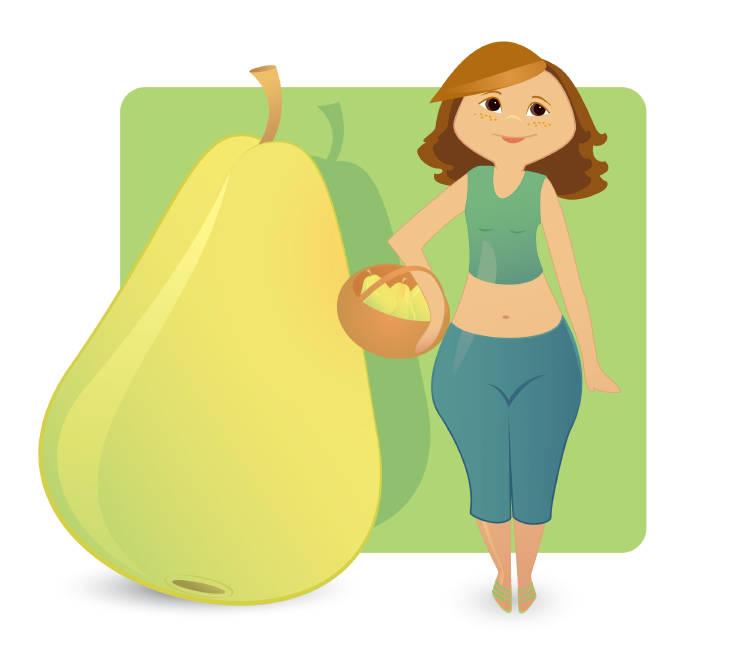 mujer cuerpo pera