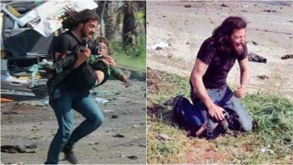 Él es el fotógrafo que dejó su cámara para ser un héroe