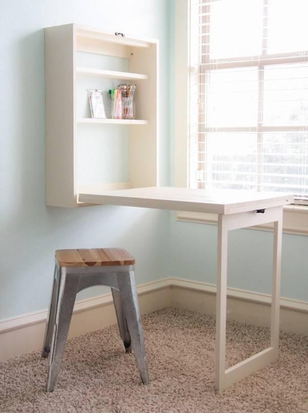 Cómo hacer una mesa plegable, ¡que no ocupa lugar cuando la guardas!
