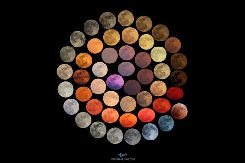 Esta sorprendente imagen de la NASA recopila todos los colores que tiene la luna