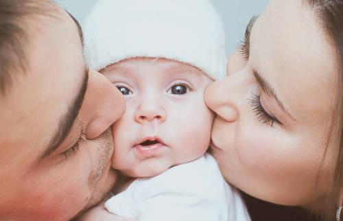 padres hijos bebe