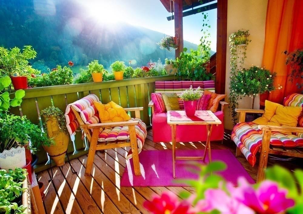 Terrazas y balcones decorados a todo color