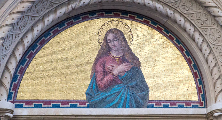 Mosaico María Magdalena en Milán