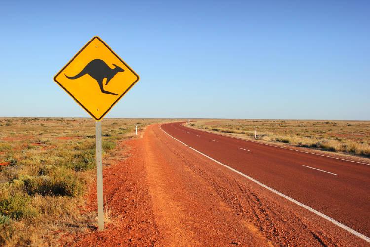 australia carreteras en el desierto