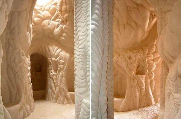 Una increíble catedral subterránea tallada a mano