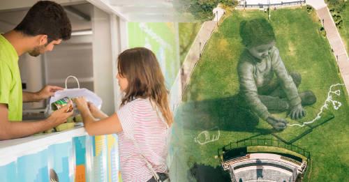 """""""En las manos del mundo"""": intervención artística en el Día Mundial del Reciclaje"""